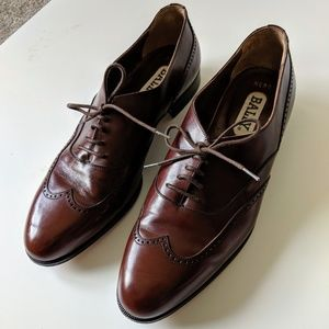 Bally Designer Leather Brown Oxford Formal Shoes